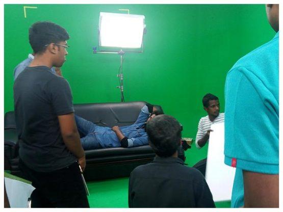 green matte tie up studio