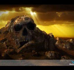 matte painting skull